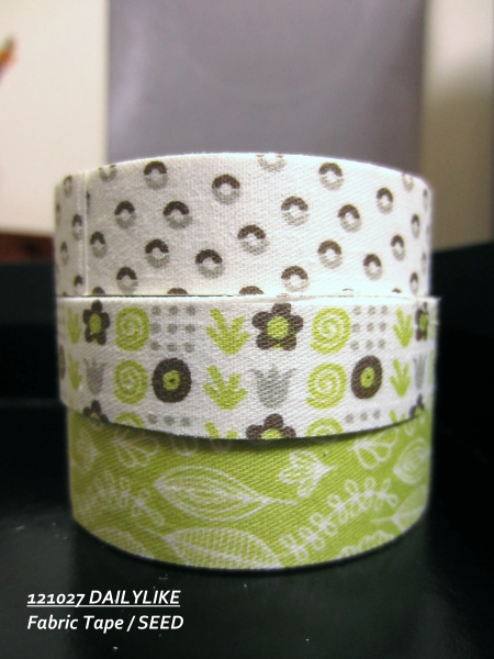 121027 DAILYLIKE Fabric Tape - SEED