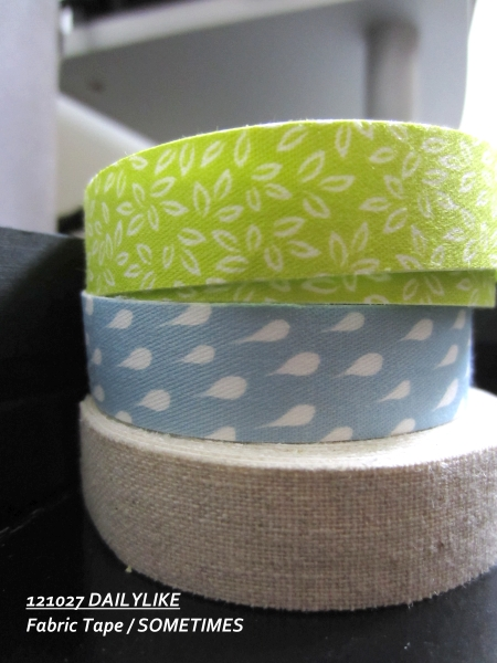 121027 DAILYLIKE Fabric Tape - SOMETIMES