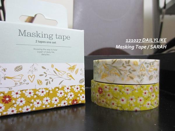 121027 DAILYLIKE Masking Tape - SARAH