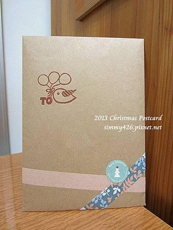 131225 韓的耶誕紅葉明信片‧信封