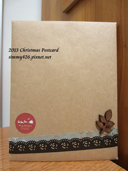 131225 22nd Cafe 的耶誕紅葉明信片‧信封