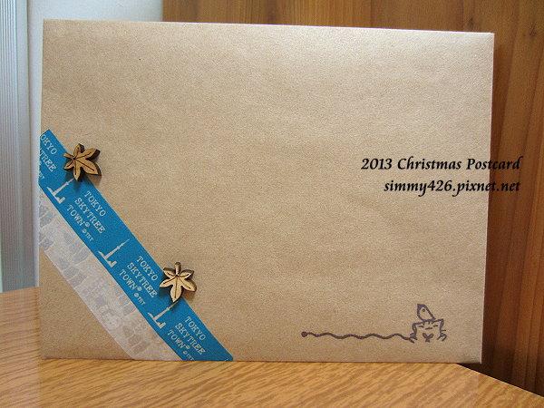 131225 Rita 的耶誕紅葉明信片‧信封(1)