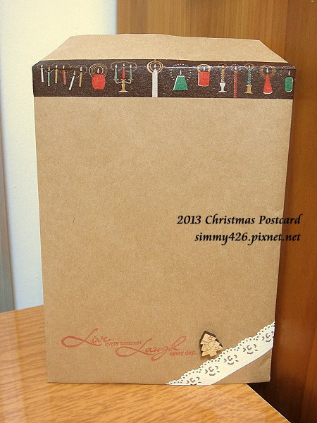 131225 品慈的耶誕紅葉明信片‧信封(1)