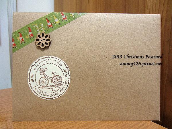131225 品諭的耶誕紅葉明信片‧信封