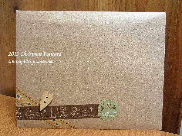 131225 馬麻的耶誕紅葉明信片‧信封