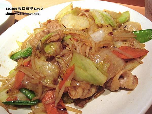 YAYOI 軒 豬肉炒野菜定食.jpg
