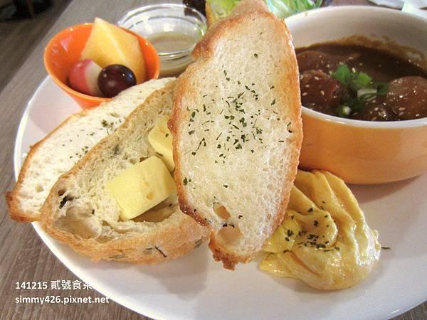 貳號食茶 咖哩早午餐+法國麵包+牛奶蛋(2).jpg