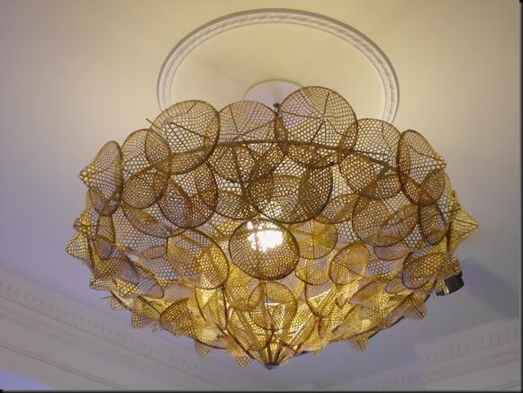 斗笠製作的燈飾