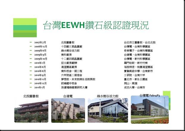 簡報-台灣EEWH鑽石級認證現況