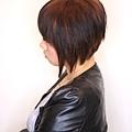 短髮 C型燙 內彎