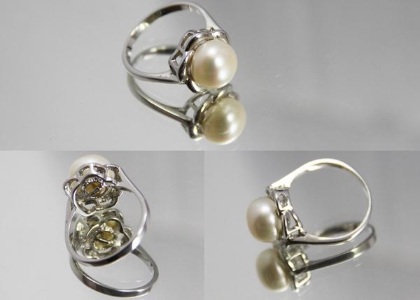 白K金 天然珍珠戒指 氣質出眾1.jpg
