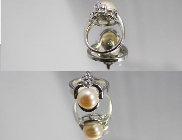 白K金 珍珠戒指 超人氣珍珠款〈人氣商品〉2.jpg