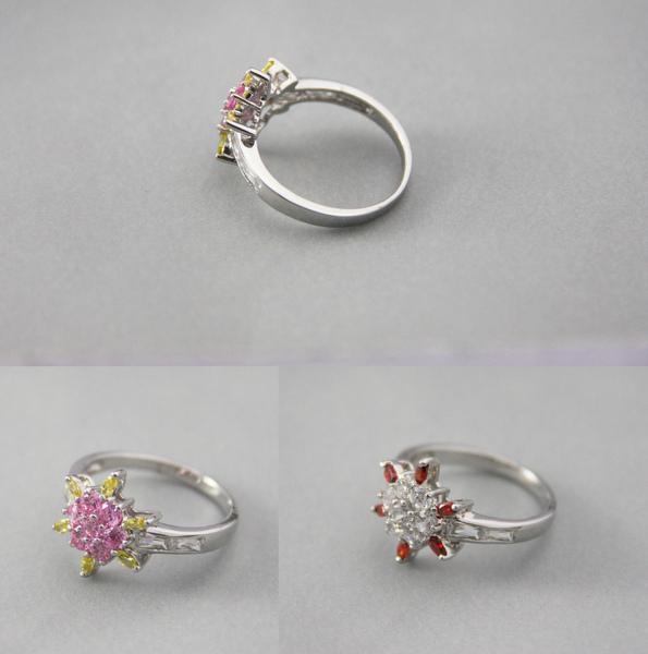 白K金 彩鑽戒指 可愛小雛菊款1.jpg