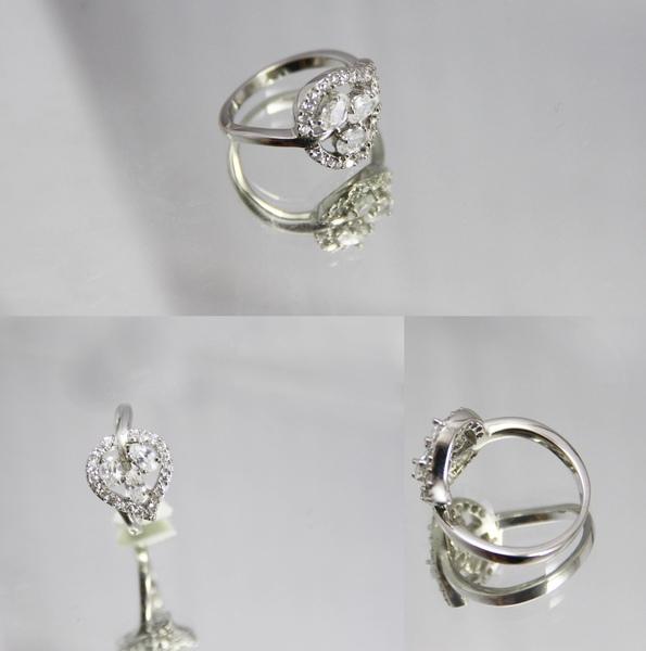 白K金 彩鑽戒指 可愛心型鑽2.jpg