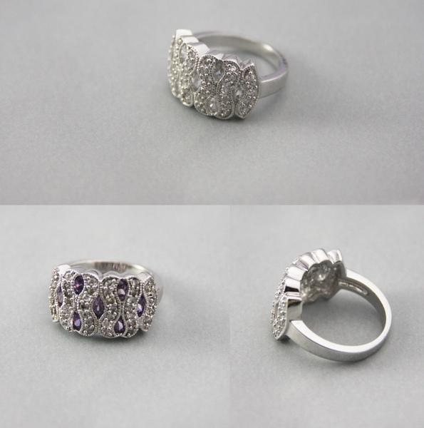 白K金 彩鑽戒指 古典美人風格1.jpg