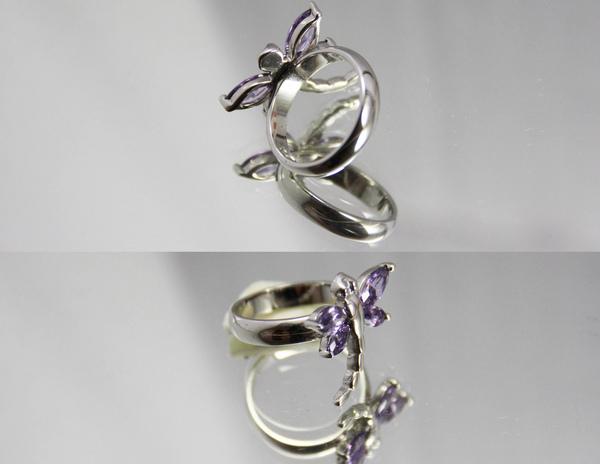 白K金 寶石造型戒指 超人氣蝴蝶造型〈人氣商品〉1.jpg