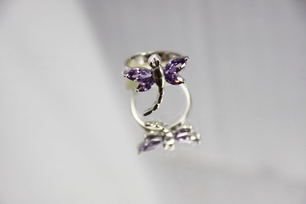 白K金 寶石造型戒指 超人氣蝴蝶造型〈人氣商品〉首圖.jpg