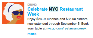nyc restaurant wk extend