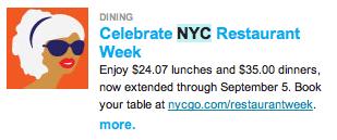 nyc restaurant wk extend