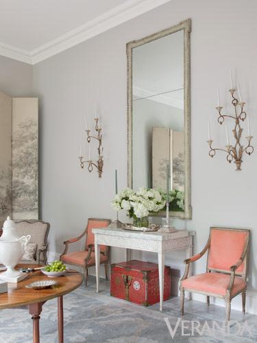 Veranda 美式風格 中西合併 粉紅單人椅