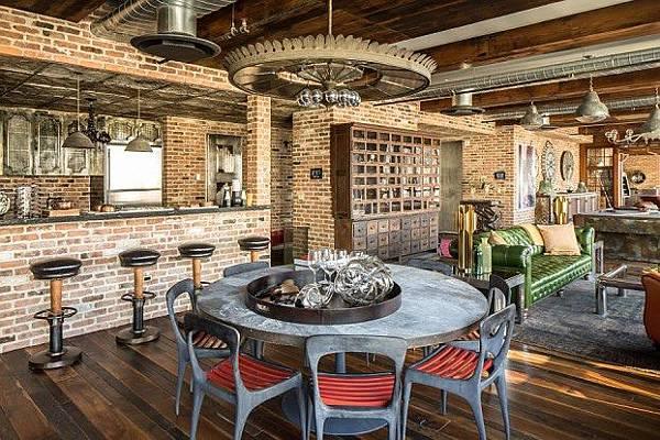 美式風格 LOFT風 工業風 餐廳