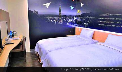 台北西悠飯店-標準雙人房(兩小床).jpg