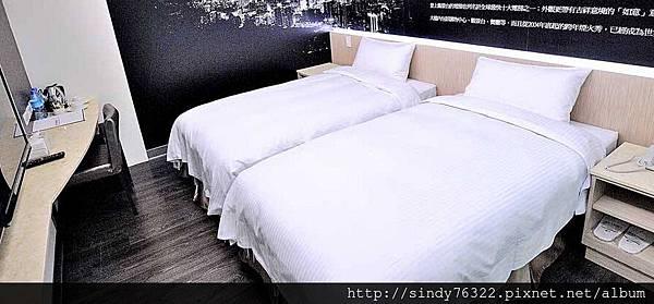 台北西悠飯店-標準雙人房(兩小床)2.jpg
