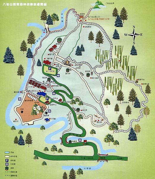 八仙山國家森林遊樂區導覽圖