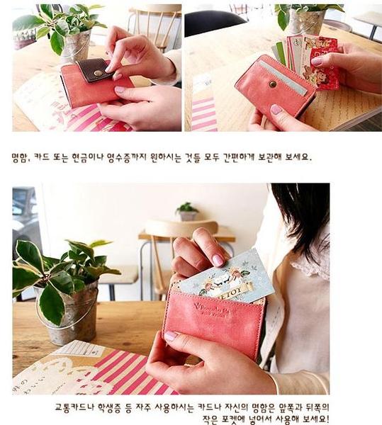韓國文具~Jetoy皮革信用卡夾