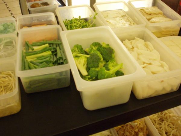 推車上的蔬菜