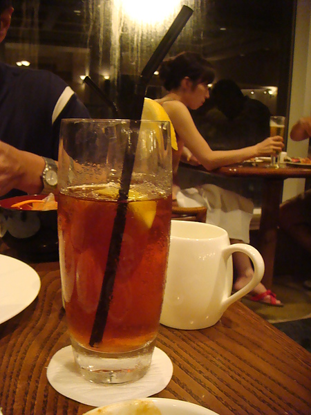 凱悅晚餐~冰茶