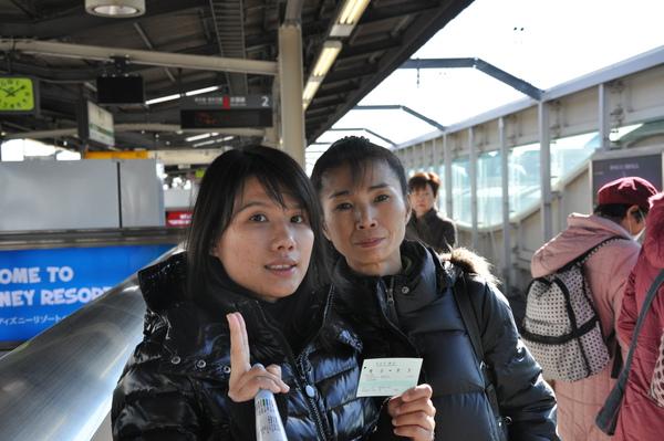 我和阿姨,在JR舞濱站