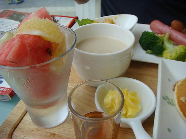 煎餅套餐~濃湯、水果&奶油