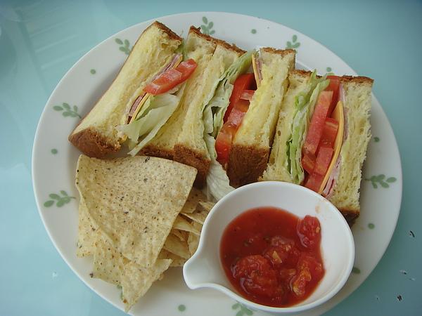 明治套餐~鬆軟丹麥里肌三明治