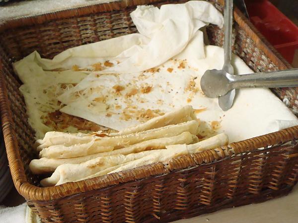 義豐豆漿店~放燒餅的籃子