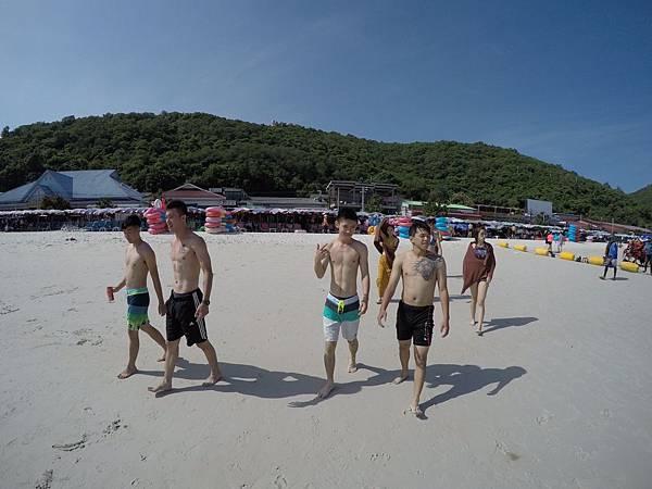 暹邏灣沙灘 拍照