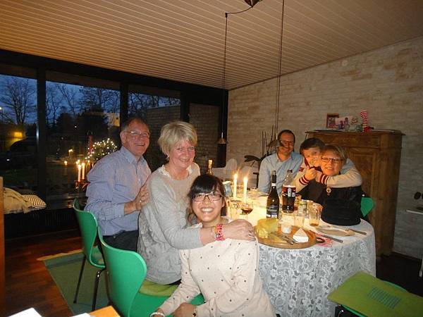 Isabella with host family