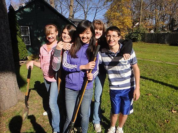Jamie with friends