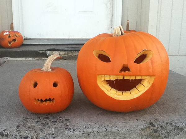 Holloween pumpkin made by students