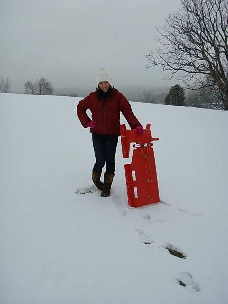 Sabrina with snow