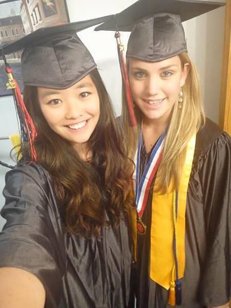 Nicole's graduation in the US