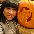 Sabrina with pumpkin