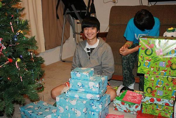 Jason with Christmas gifts