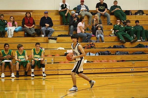 Jason playing basketball