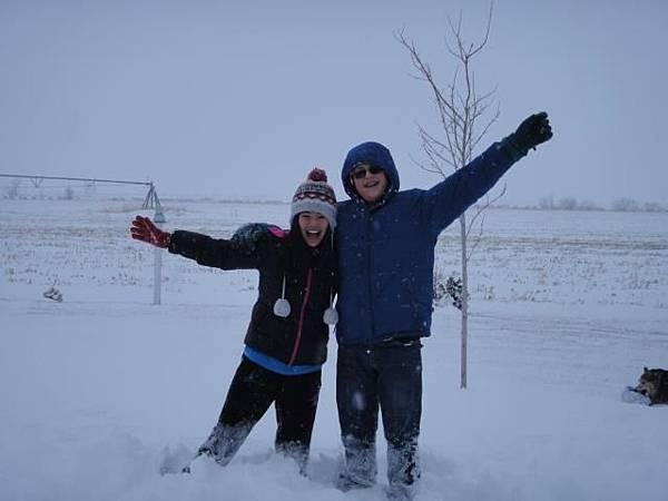 Nicole in snow