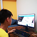 BenQ 24 型 IPS 寬螢幕窄邊框 GW2480 開箱 (俏媽咪玩 3C) (44).png
