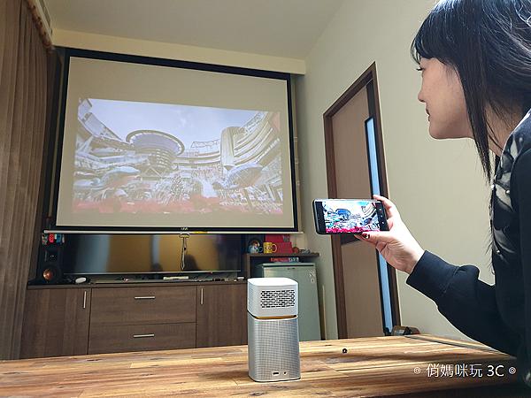 明碁 BenQ GV1 無線行動投影機開箱 (俏媽咪玩3C) (6).png