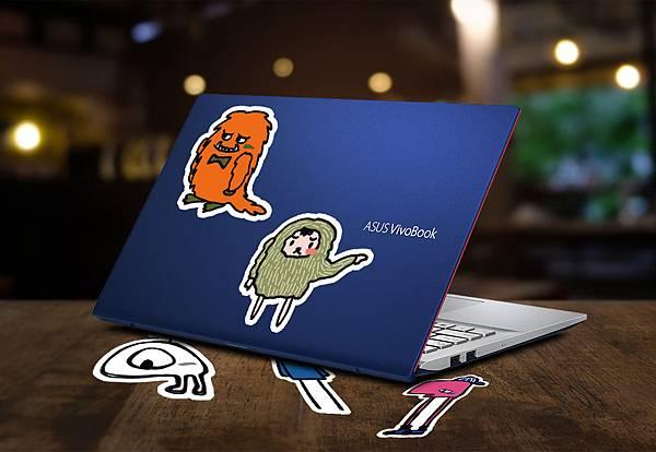 購買「有色有膽」的VivoBook S,隨機附贈限定版貼紙,打造最潮個人風格。.jpg