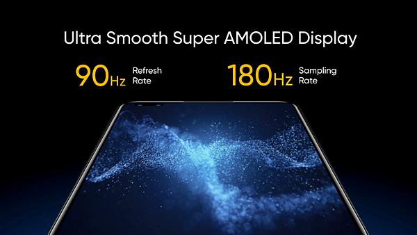 realme X50 Pro 5G搭載90Hz Super AMOLED暢速螢幕。.png
