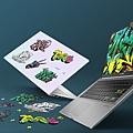 VivoBook S14,S15採用Enter鍵撞色設計、搭配VivoBook潮流塗鴉貼紙,讓使用者盡情展現真實自我,打造獨一無二個人專屬風格。.jpg